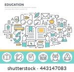 education concept illustration  ... | Shutterstock .eps vector #443147083
