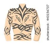 body tattoo icon cartoon.   Shutterstock .eps vector #443156737