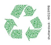 recycle symbol made by foliage. | Shutterstock .eps vector #44315998