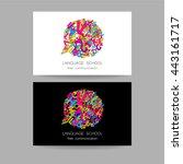 concept business card design... | Shutterstock .eps vector #443161717