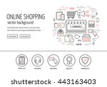 e commerce web design concept.... | Shutterstock .eps vector #443163403