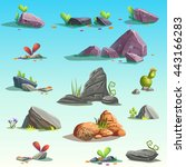 Set Of Isolated Stones ...