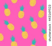 vector seamless pattern with... | Shutterstock .eps vector #443169523