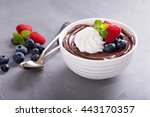 Chocolate Pudding With Whipped...