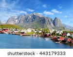 A Beautiful View Of Reine Town...