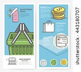business brochure flyer design... | Shutterstock .eps vector #443180707