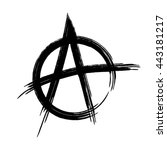 silhouette sign anarchy.... | Shutterstock .eps vector #443181217