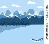 vector flat background   winter ...   Shutterstock .eps vector #443184487