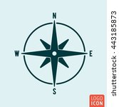 compass icon isolated. wind...