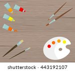 vector illustration with... | Shutterstock .eps vector #443192107