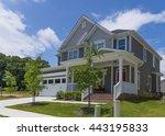 brand new house. | Shutterstock . vector #443195833