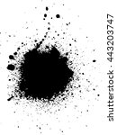 ink stain. black paint spot . | Shutterstock .eps vector #443203747