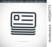 vector icon documents | Shutterstock .eps vector #443204773