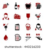 wine icons | Shutterstock .eps vector #443216233