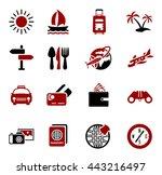 travel icons set | Shutterstock .eps vector #443216497