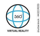 virtual reality  icon and symbol | Shutterstock .eps vector #443219053