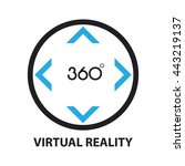 virtual reality  icon and symbol | Shutterstock .eps vector #443219137