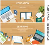 education and learning banner... | Shutterstock .eps vector #443241847