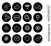 social icons set | Shutterstock .eps vector #443245537