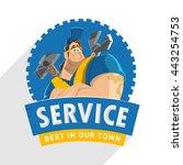 character logo design for home... | Shutterstock .eps vector #443254753