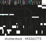 glitched lines and colorful... | Shutterstock .eps vector #443261773