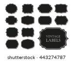 vintage label.decorative frame... | Shutterstock .eps vector #443274787