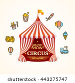 circus concept can be used for... | Shutterstock .eps vector #443275747