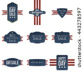 fourth of july realistic... | Shutterstock .eps vector #443278597