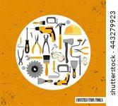 construction tools set . vector ... | Shutterstock .eps vector #443279923