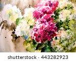 light openwork bouquet of... | Shutterstock . vector #443282923