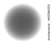 black and white circle halftone ... | Shutterstock .eps vector #443286553
