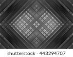 abstract grey fractal... | Shutterstock . vector #443294707