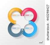 vector elements for infographic.... | Shutterstock .eps vector #443298427