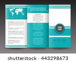 business trifold brochure... | Shutterstock .eps vector #443298673