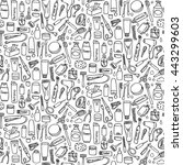 personal care seamless pattern... | Shutterstock .eps vector #443299603