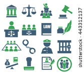 attorney  court  law icon set | Shutterstock .eps vector #443312137
