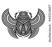 decorative monohrome sacred... | Shutterstock . vector #443313607
