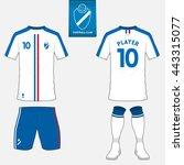 set of soccer kit or football...   Shutterstock .eps vector #443315077