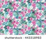 trendy seamless floral pattern... | Shutterstock .eps vector #443318983