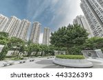 public park and highrise... | Shutterstock . vector #443326393