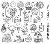 sweets collection   Shutterstock .eps vector #443327743