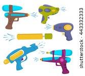 Water Gun Isolated. Plastic...