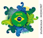 vector world cup summer sport... | Shutterstock .eps vector #443341987