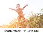 father playing with his son in... | Shutterstock . vector #443346133