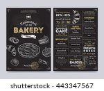 bakery menu design and bakery... | Shutterstock .eps vector #443347567