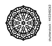 mandala. ethnic decorative... | Shutterstock .eps vector #443348263