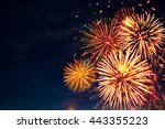 4th july fireworks. fireworks... | Shutterstock . vector #443355223