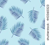 palm tropical leaves seamless...   Shutterstock .eps vector #443360323