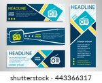 retro radio icon on horizontal... | Shutterstock .eps vector #443366317