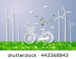 concept of eco friendly and... | Shutterstock .eps vector #443368843